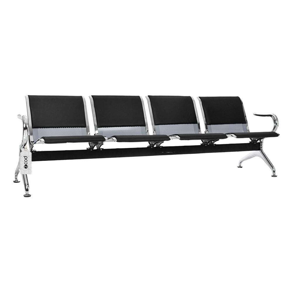Cadeira Longarina 4 Lugares Assentos Aeroporto Estofados V952