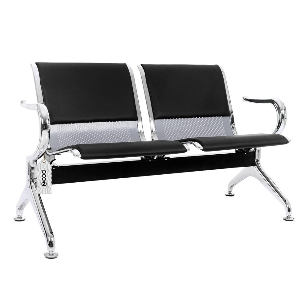 Cadeira Longarina Aeroporto 2 Lugares Assentos Estofados V902