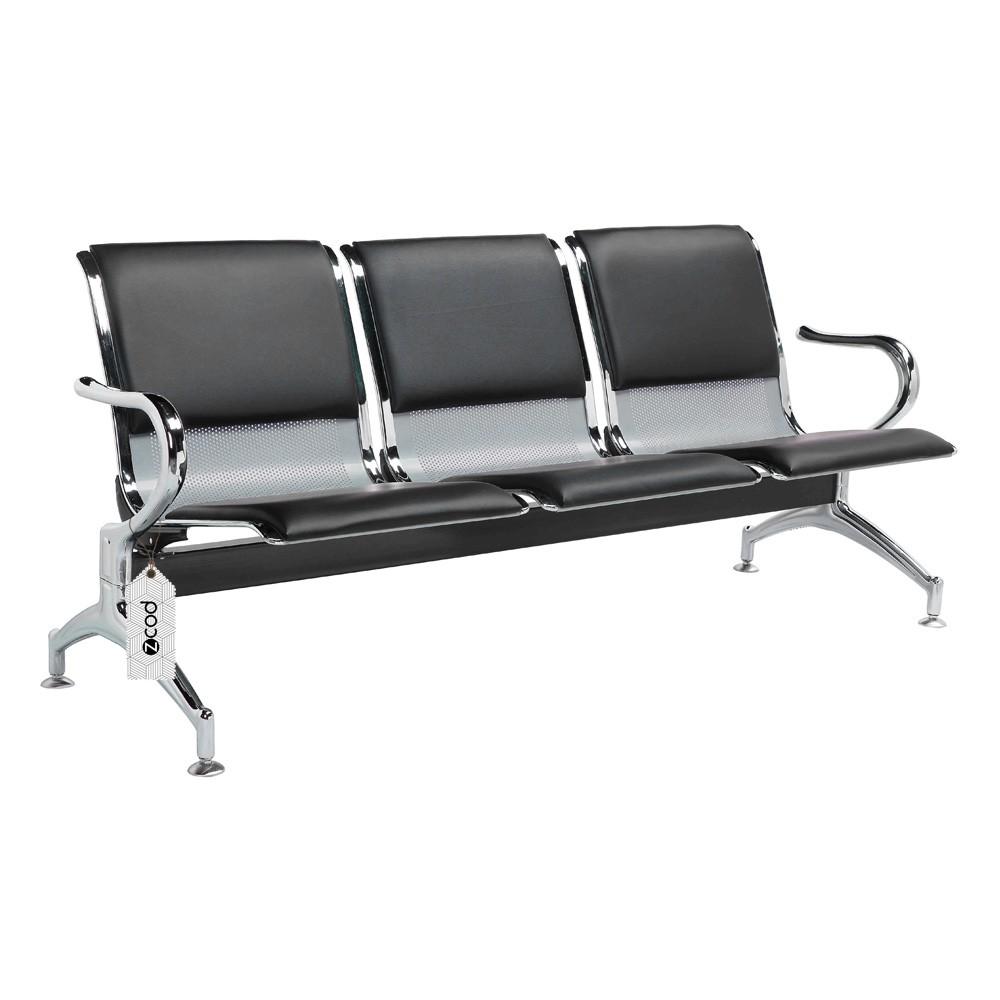 Cadeira Longarina Aeroporto 3 Lugares Assentos Estofados V932