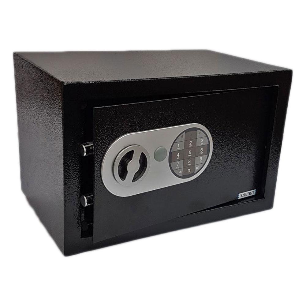 Cofre Eletrônico Em Aço Com Teclado Na Cor Preta Pequeno