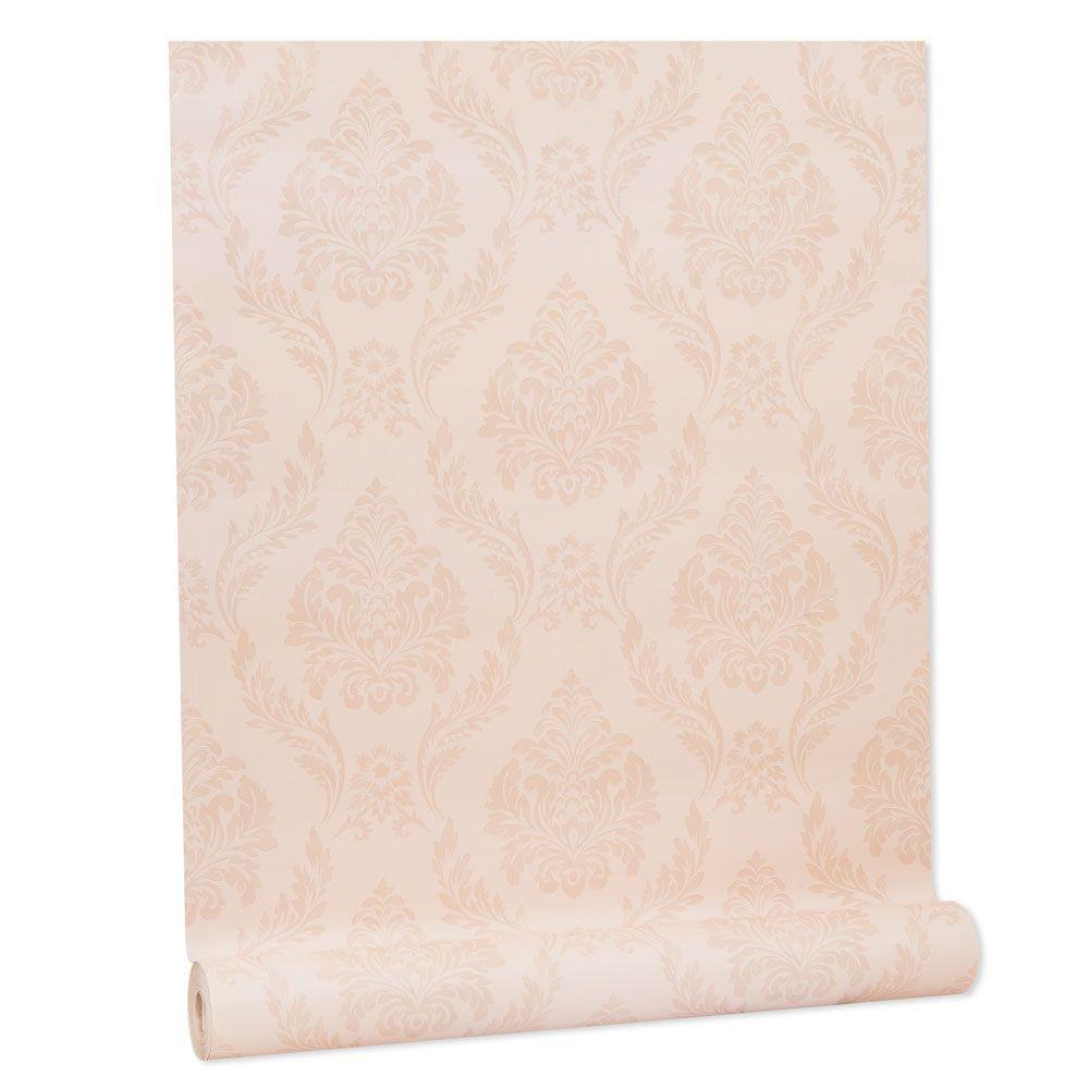 Papel De parede vinílico texturizado arabesco sala 210154