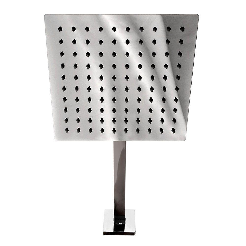 Ducha Chuveiro Slim Quadrado 20cm Inox C/ Braço Kelter K-D101*