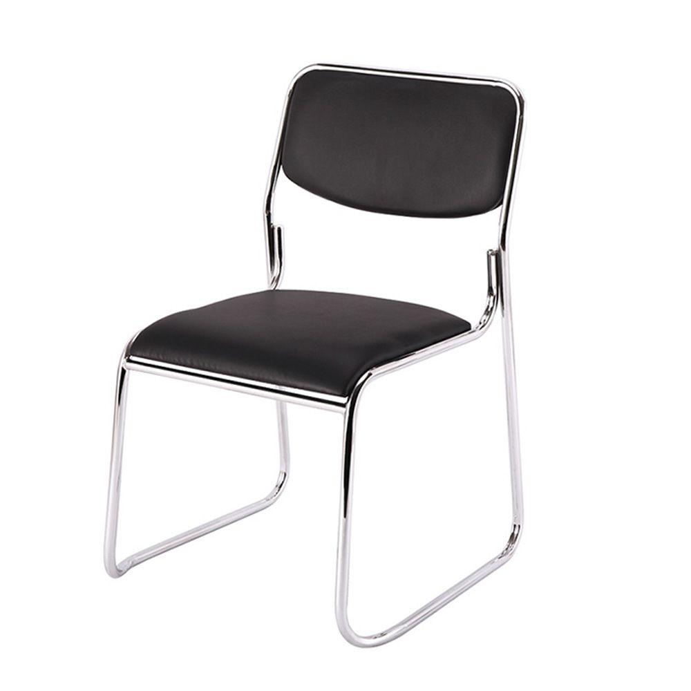 Kit 2 Cadeiras De Escritório Interlocutor Empilhável Sem Braços Fixa K-C303