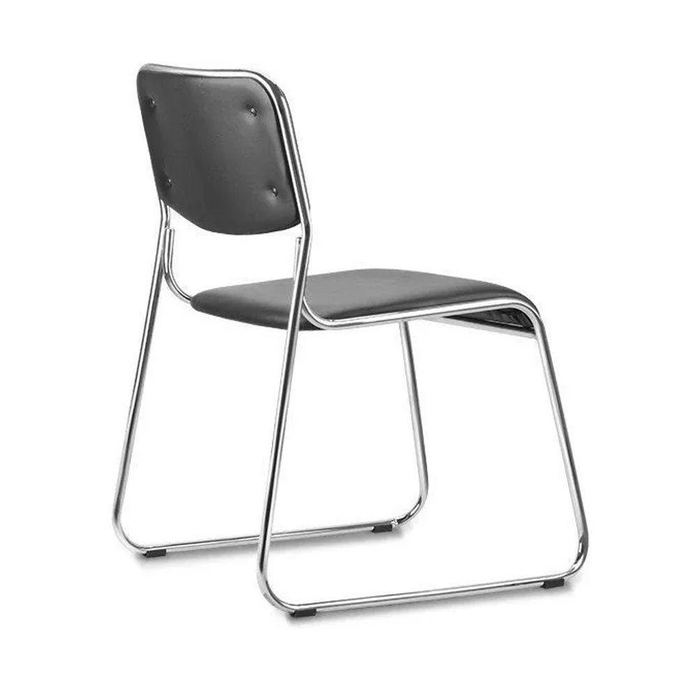 Kit 3 Cadeiras De Escritório Interlocutor Empilhável Sem Braços Fixa K-C303
