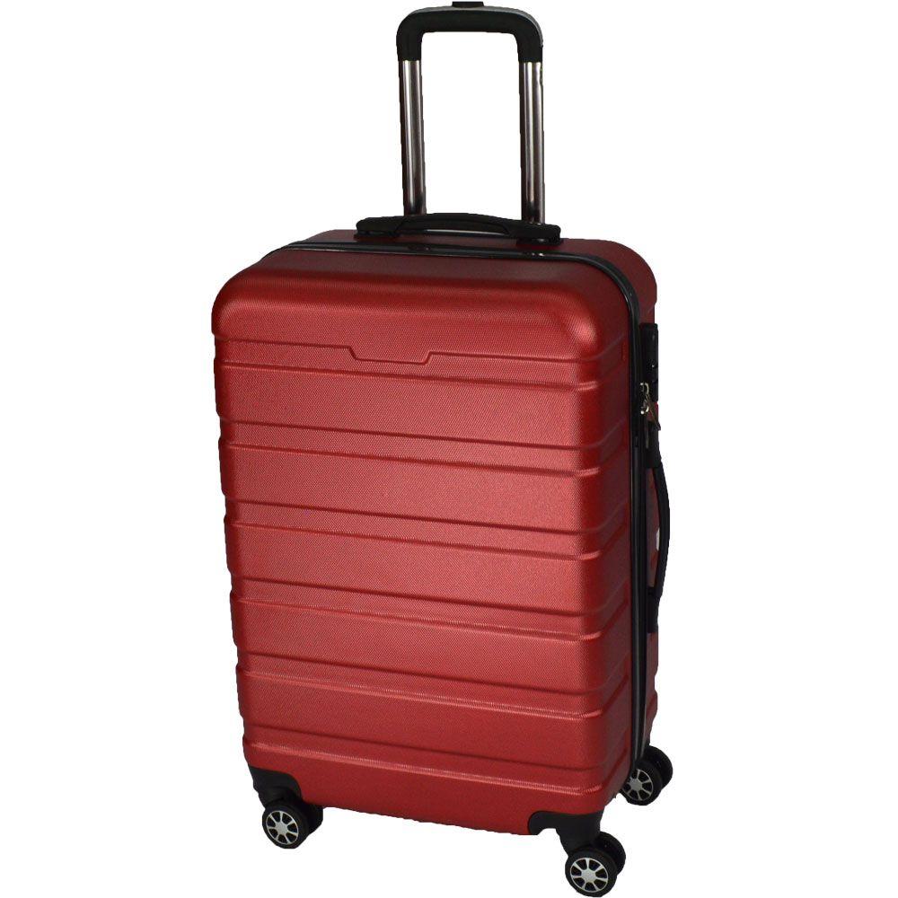 Mala de viagem média rígida em ABS - (M) 360 - vermelha