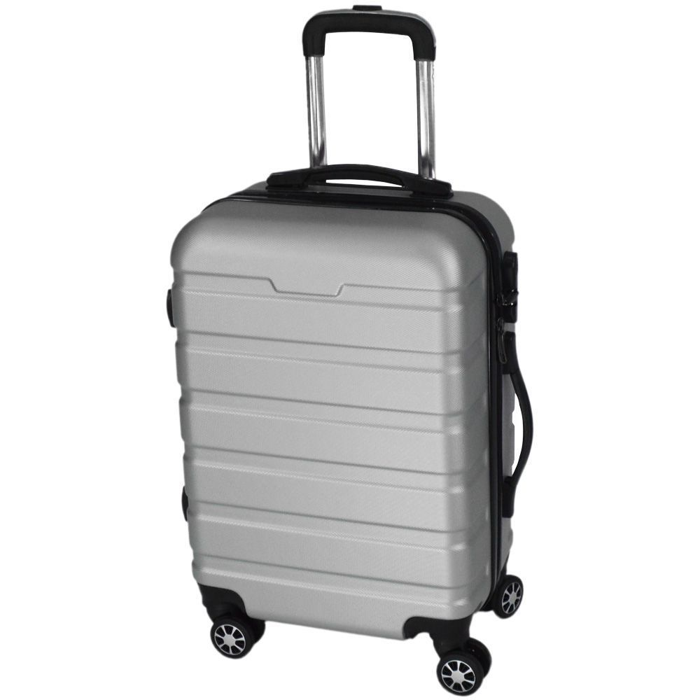 Mala de Viagem Pequena Rígida Em ABS - (P) 360 - Prata