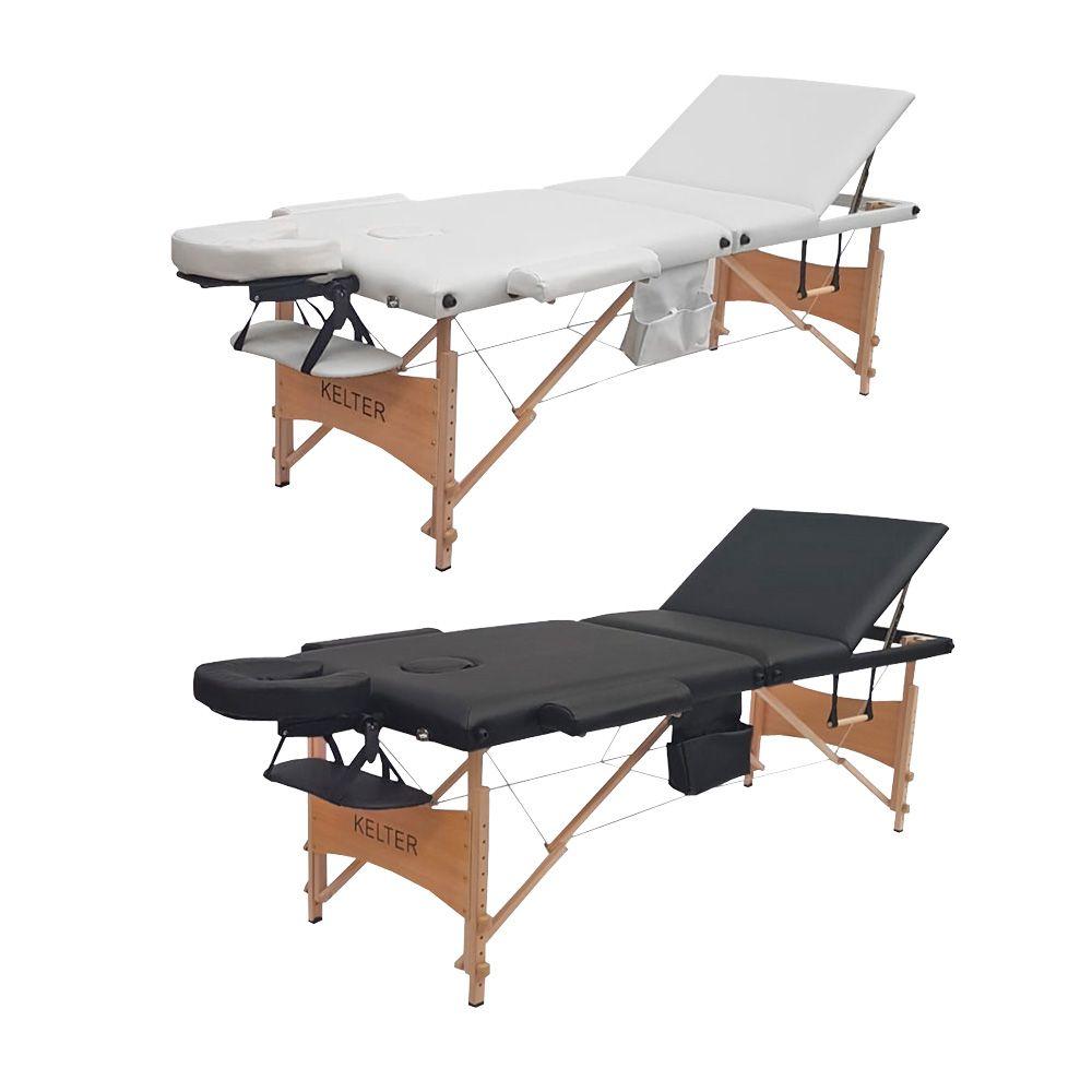 Mesa Maca De Massagem Divã Dobrável Encosto Regulável Regulagem De Altura Kelter