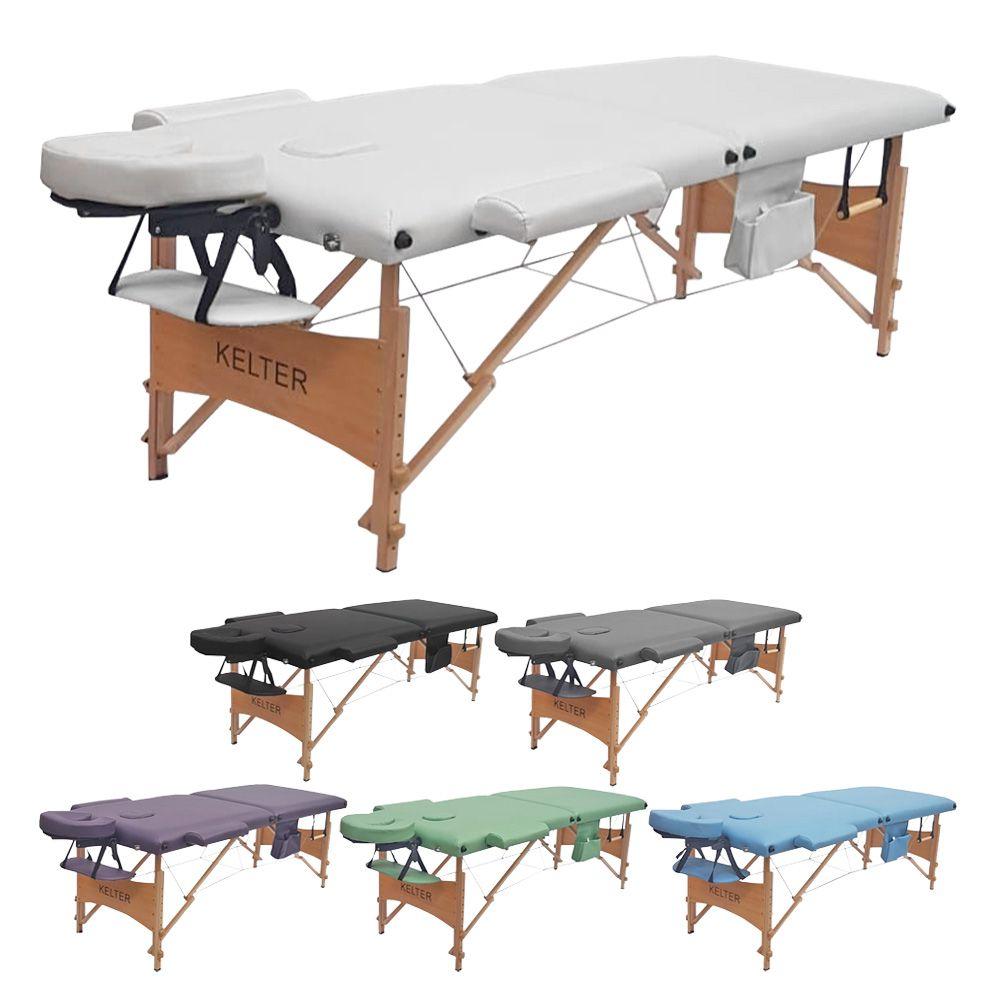 Mesa Maca De Massagem Divã Dobrável Com Orificio e Regulagem De Altura Kelter