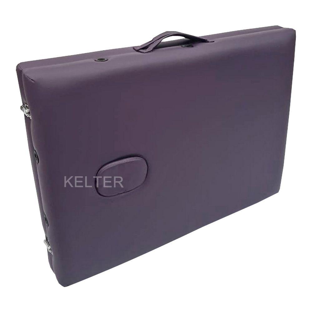 Mesa Maca De Massagem Divã Dobrável Com Regulagem De Altura Roxa Kelter K-M106