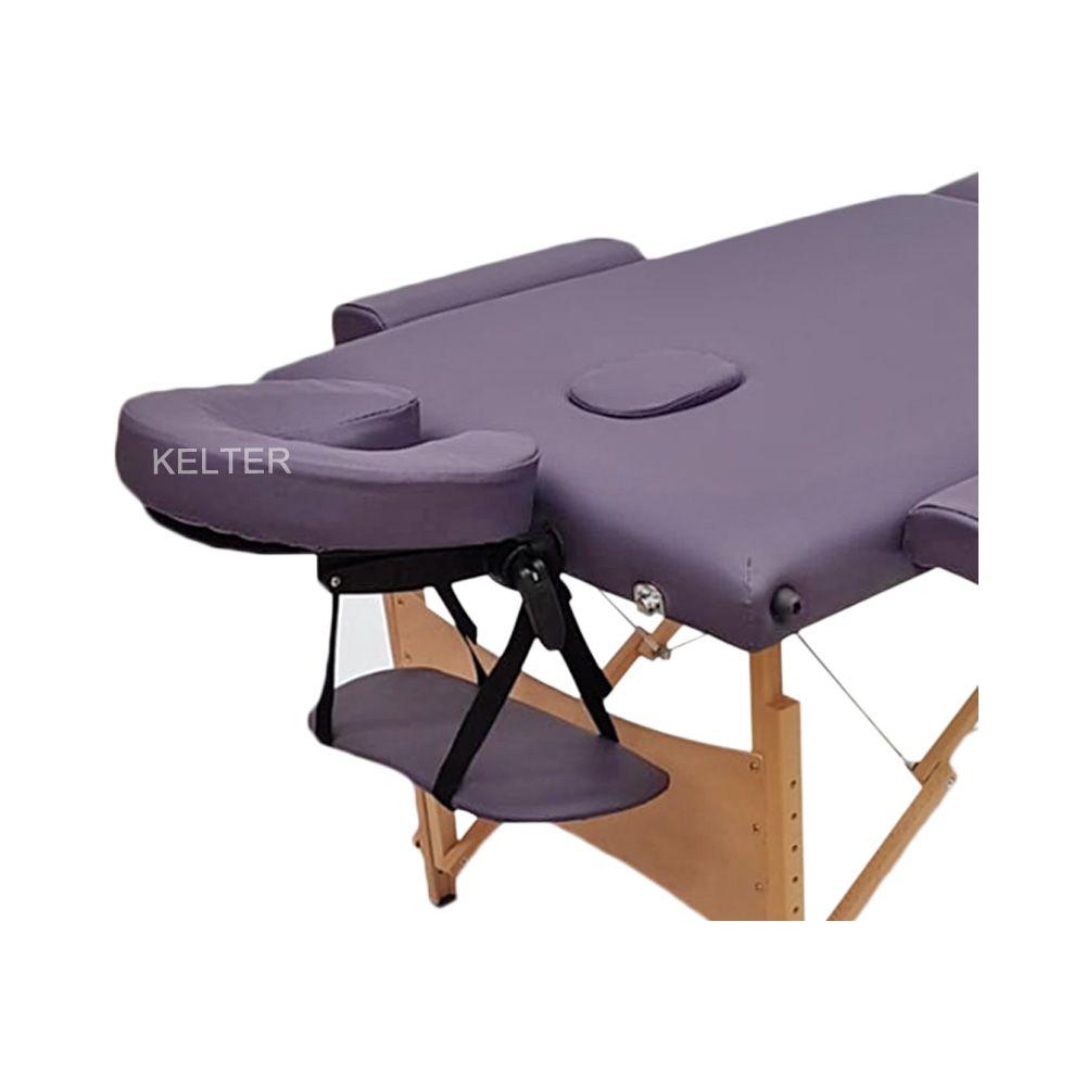 Mesa (Maca) De Massagem Dobrável Com Orificio e Regulagem De Altura Roxa K-M106