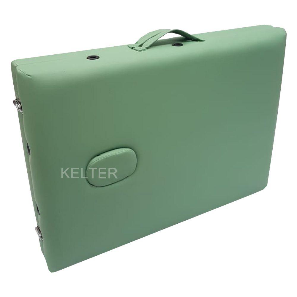 Mesa Maca De Massagem Divã Dobrável Com Regulagem De Altura Verde Kelter K-M104