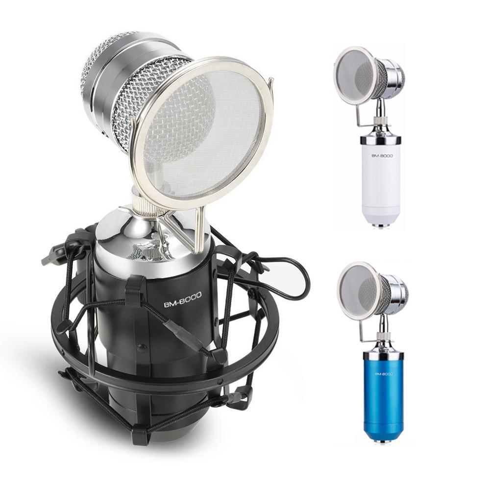 Microfone BM-8000 Condensador Estúdio Profissional BM8000