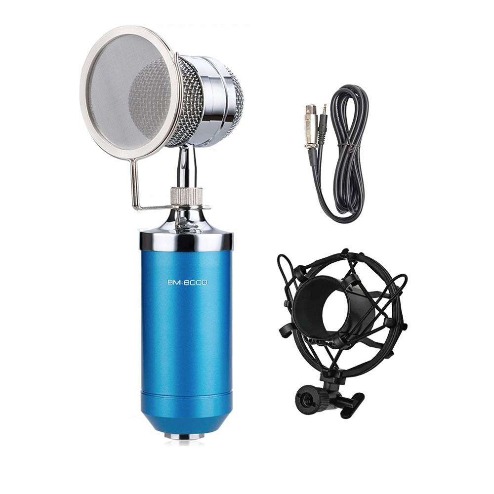 Microfone condensador BM8000 azul