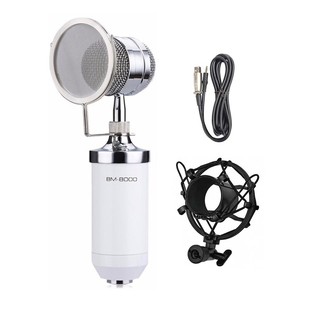 Microfone condensador BM8000 branco