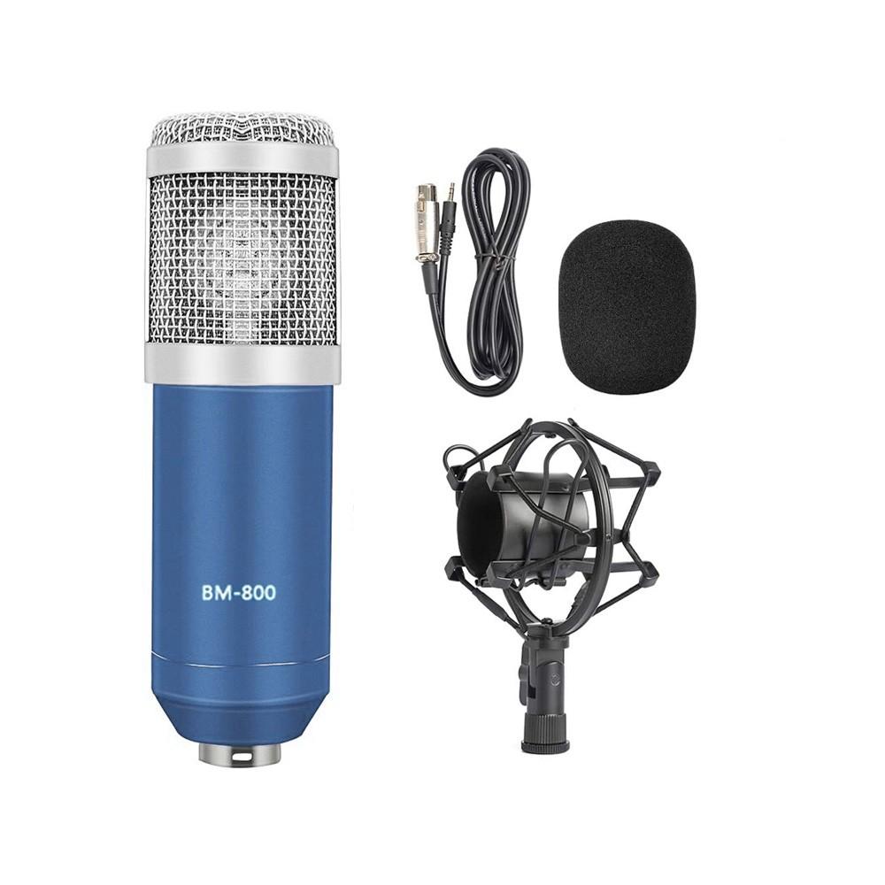 Microfone Estúdio Bm-800 Condensador BM800 Azul