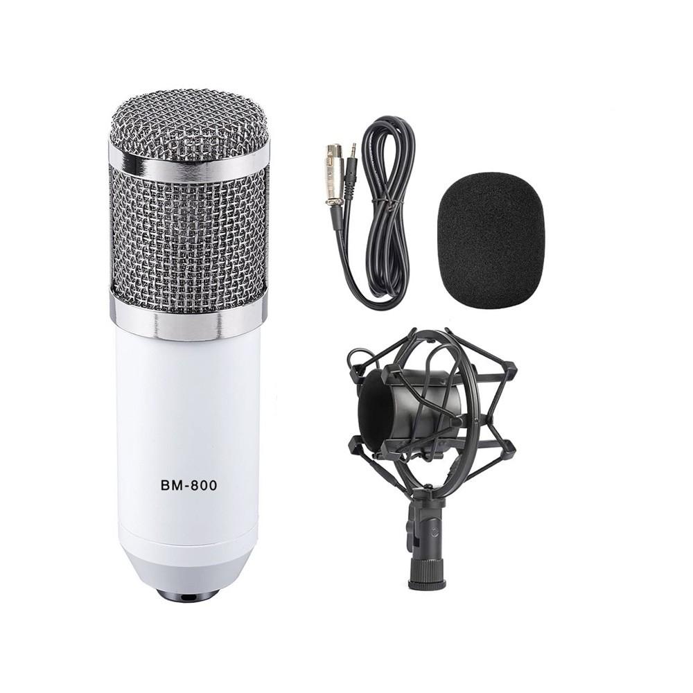Microfone Estúdio Bm-800 Condensador BM800 Branco