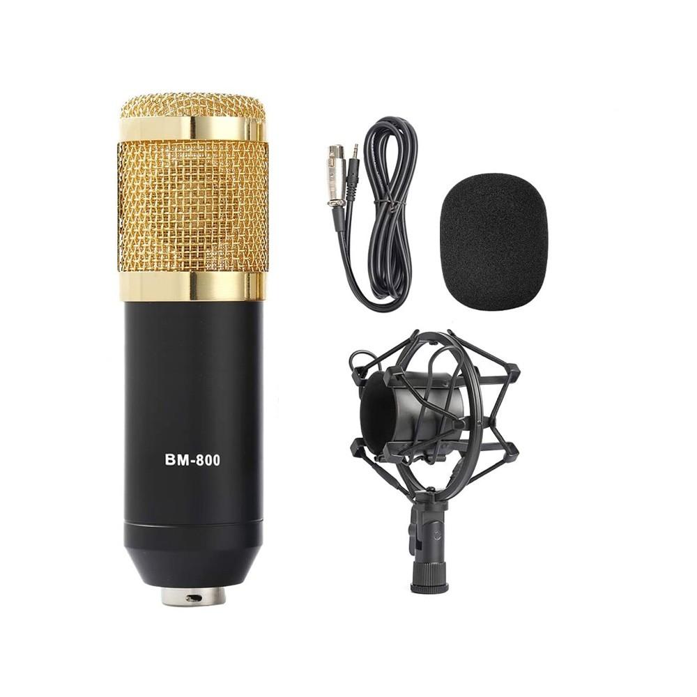 Microfone Estúdio Bm-800 Condensador BM800 Preto