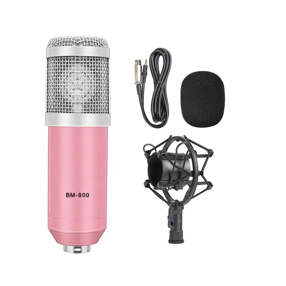 Microfone Estúdio Bm-800 Condensador BM800 Rosa