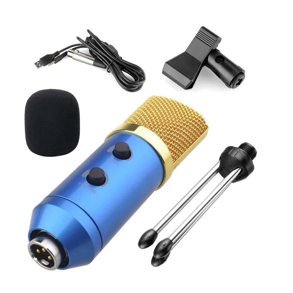 Microfone condensador BM-100FX azul