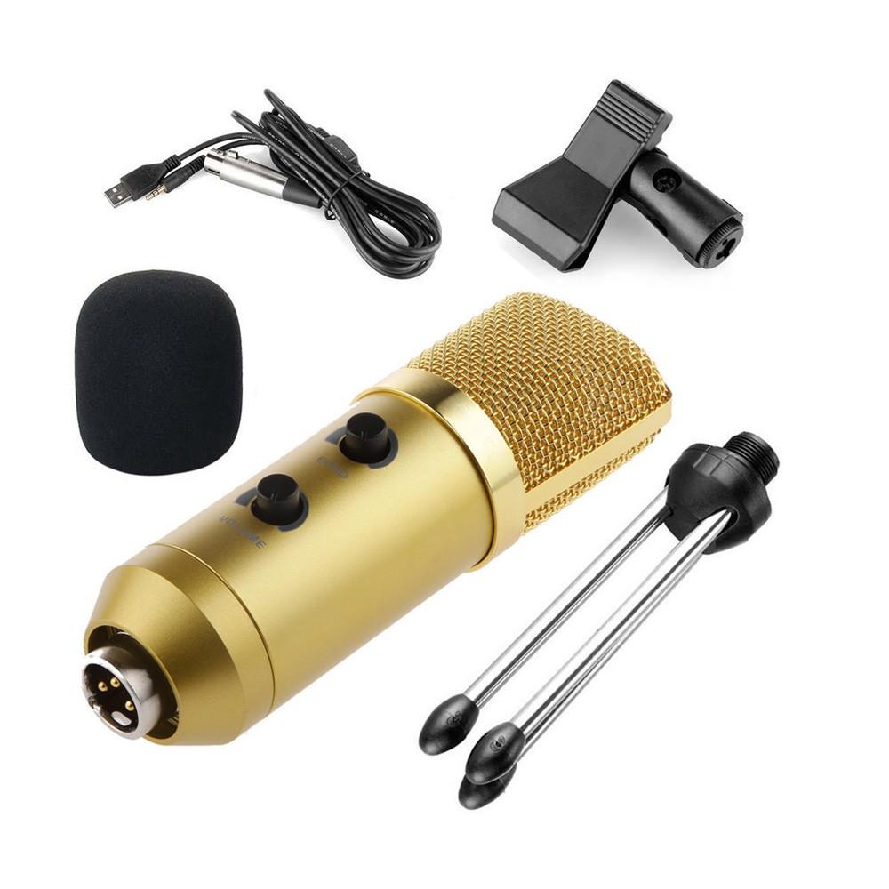 Microfone condensador BM-100FX dourado