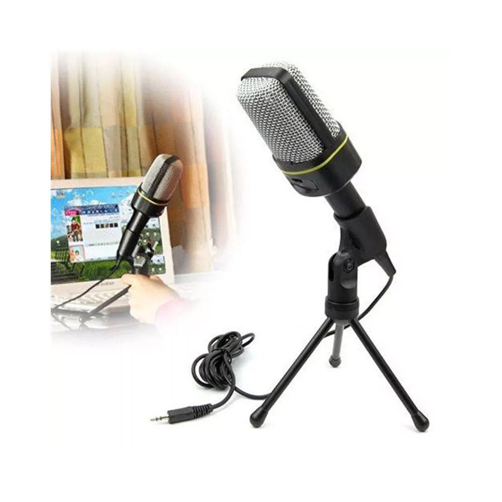 Microfone SF-920 Estúdio + Mini Tripé + Braço + Pop Filter Kelter
