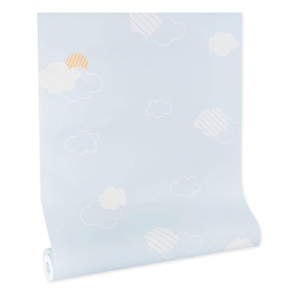 Papel de parede infantil vinílico texturizado criança kids bebê 39011