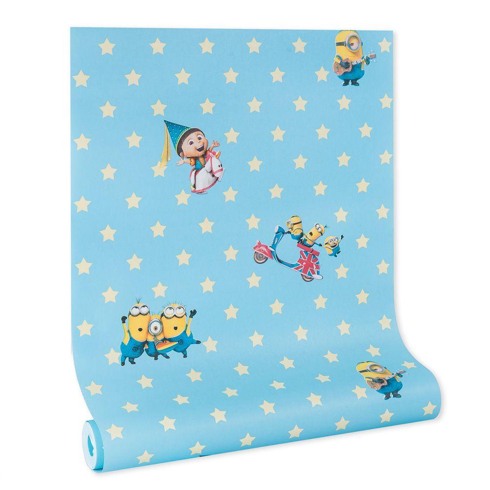 Papel de parede infantil vinílico texturizado criança kids bebê 39161
