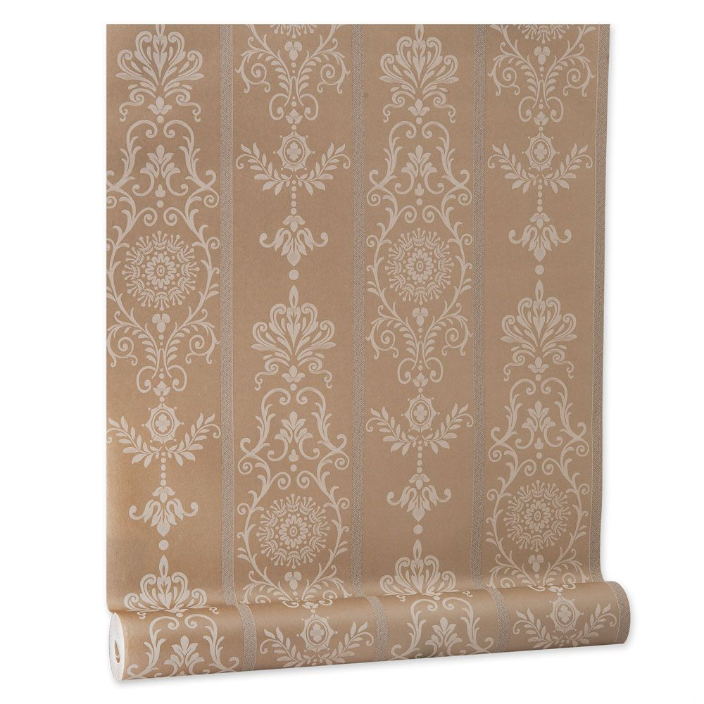 Papel De parede vinílico texturizado arabesco listrado 803