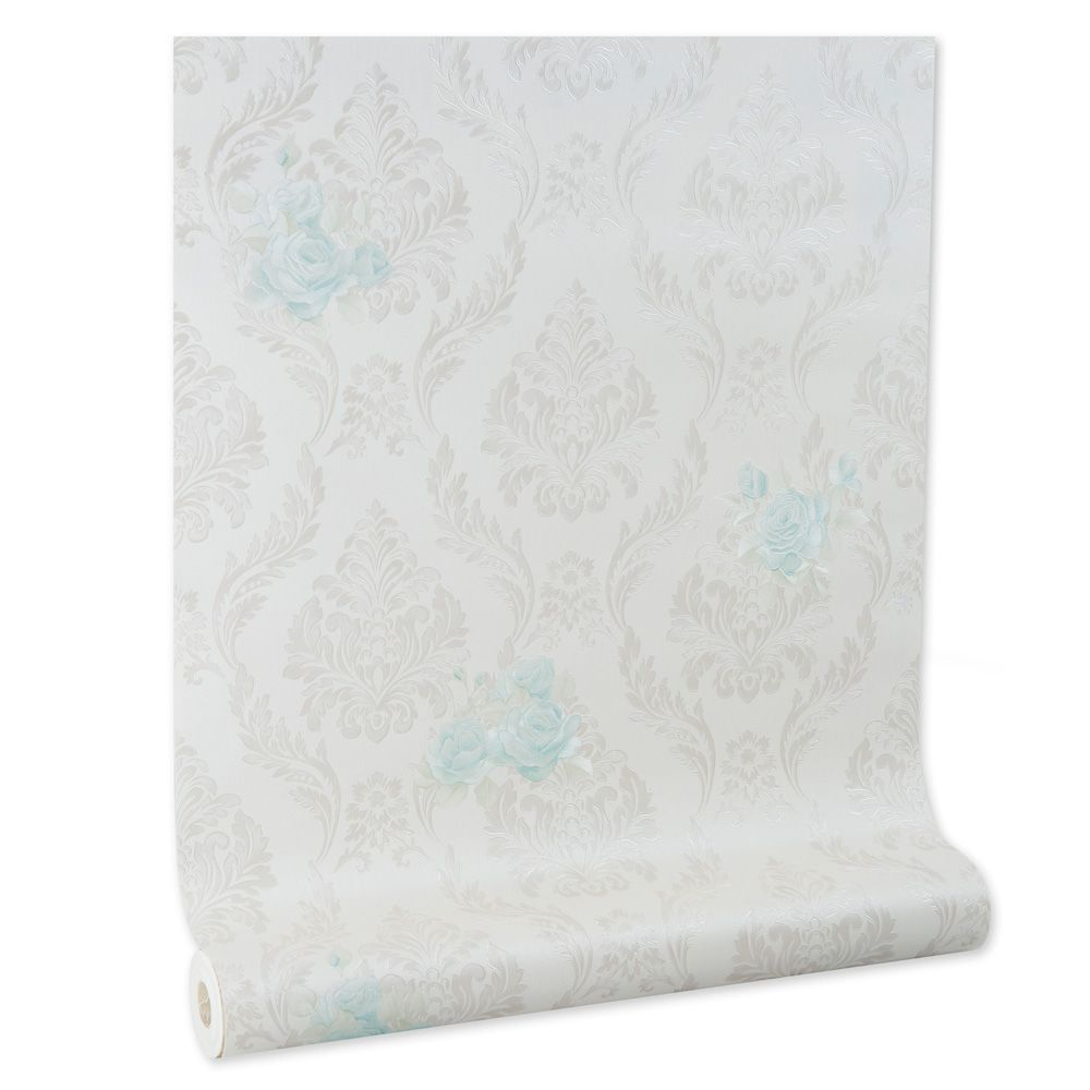 Papel De parede vinílico texturizado arabesco floral 210145