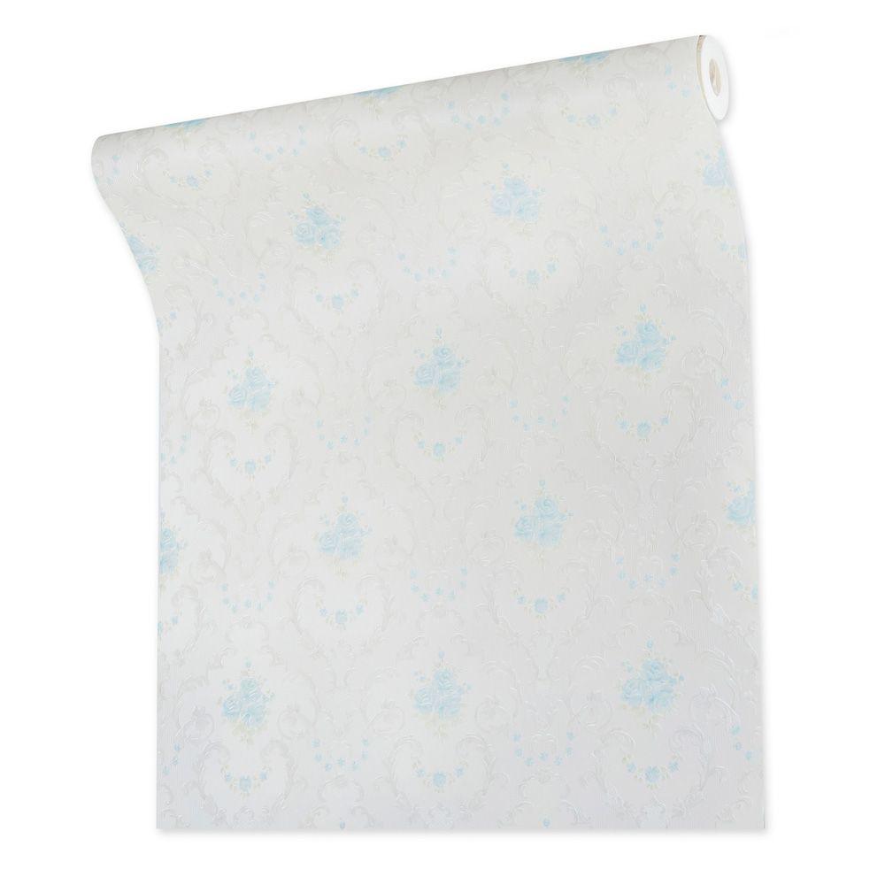 Papel De parede vinílico texturizado arabesco floral 210233