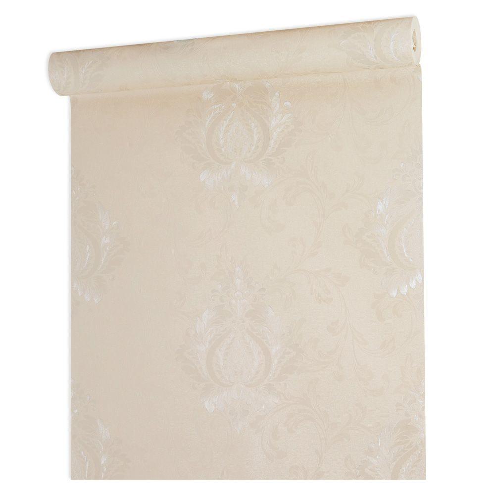 Papel De parede vinílico texturizado arabesco sala 5642