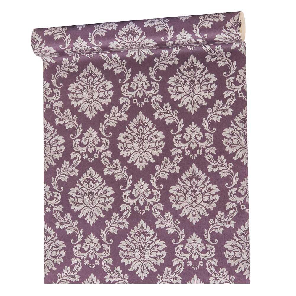 Papel De parede vinílico texturizado arabesco sala 210104