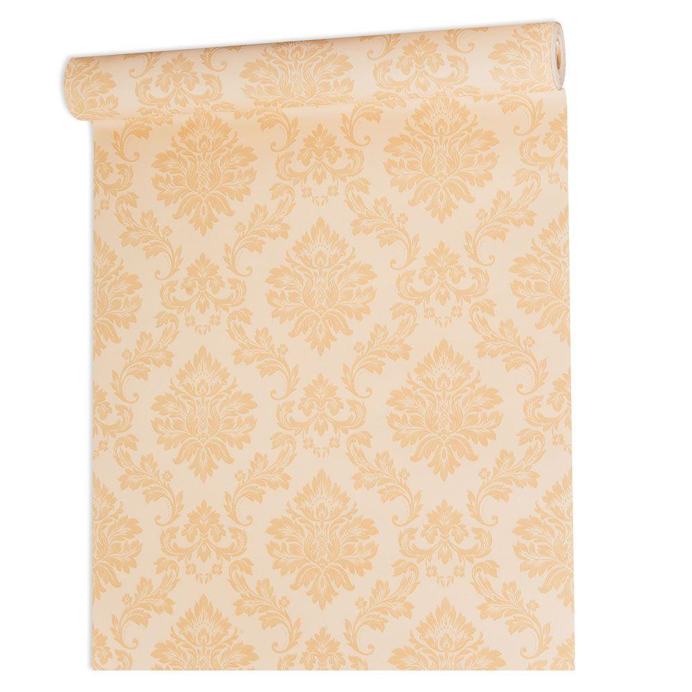 Papel De parede vinílico texturizado arabesco sala 210105
