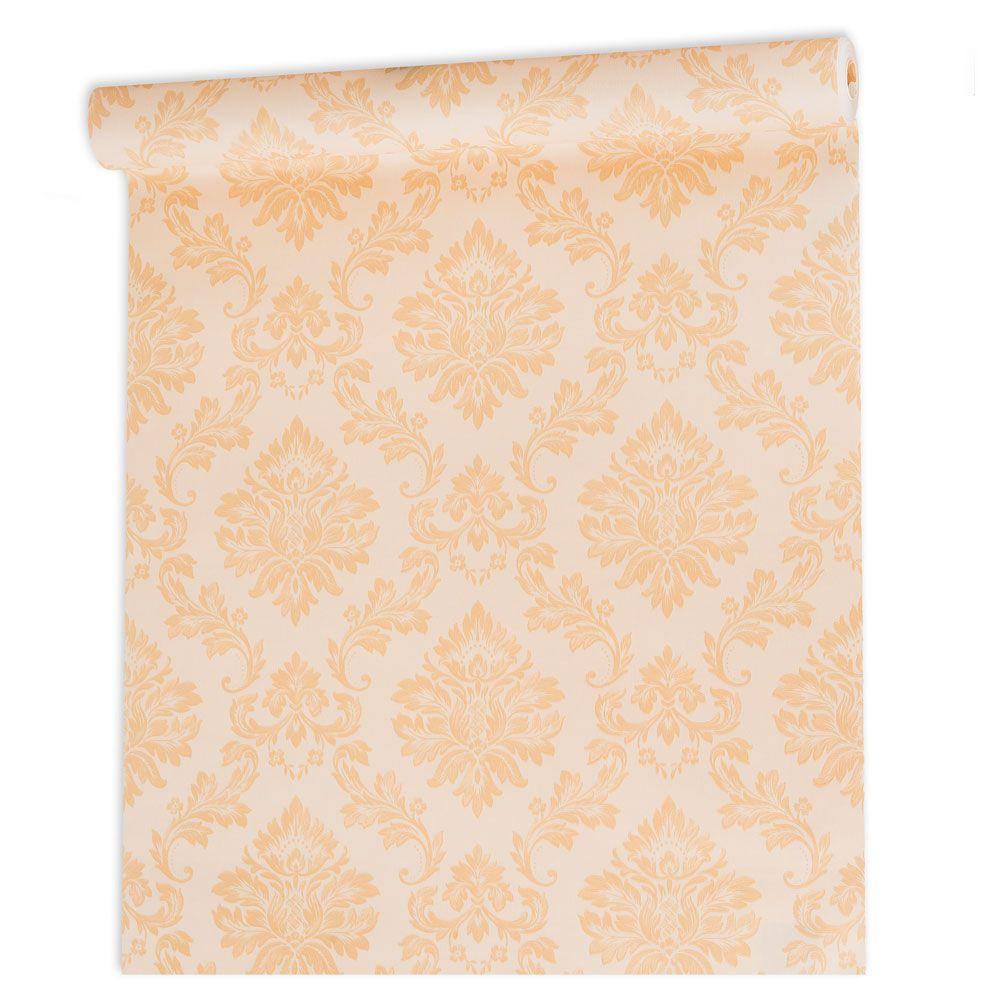 Papel De parede vinílico texturizado arabesco sala 210106