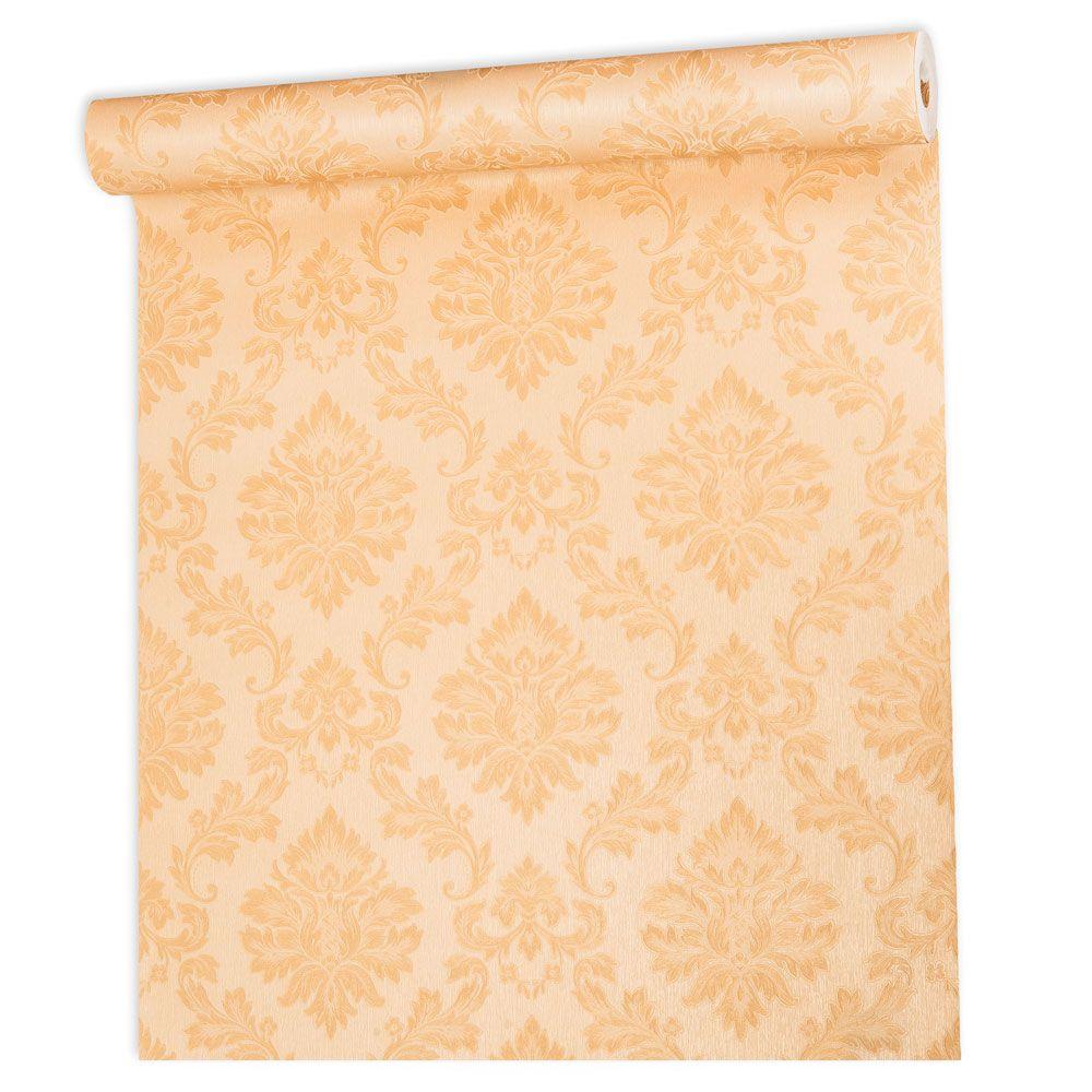 Papel De parede vinílico texturizado arabesco sala 210107