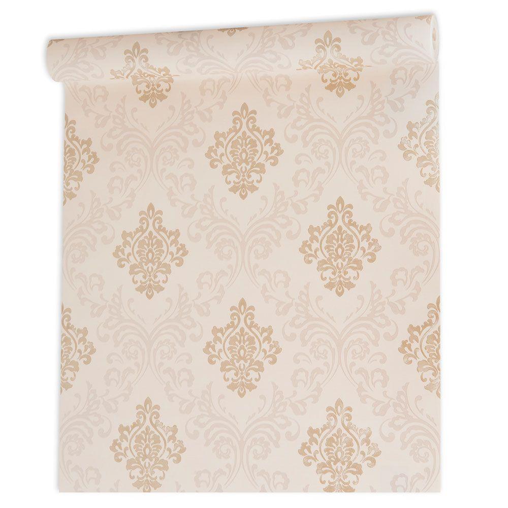 Papel De parede vinílico texturizado arabesco sala 210121