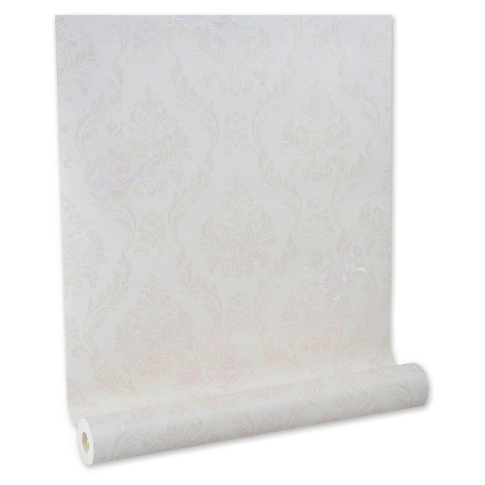 Papel De parede vinílico texturizado arabesco sala 210141