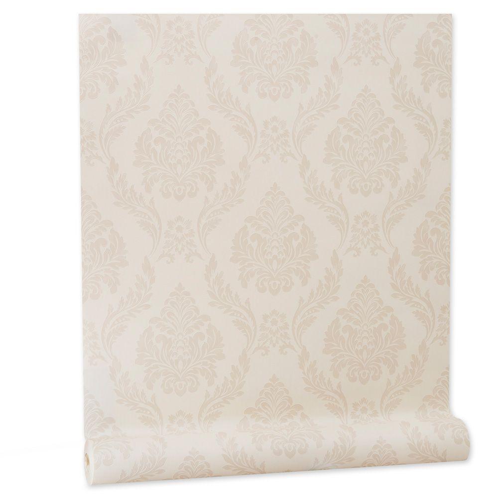 Papel De parede vinílico texturizado arabesco sala 210151