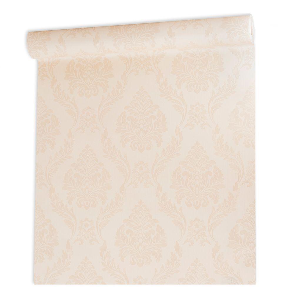 Papel De parede vinílico texturizado arabesco sala 210152