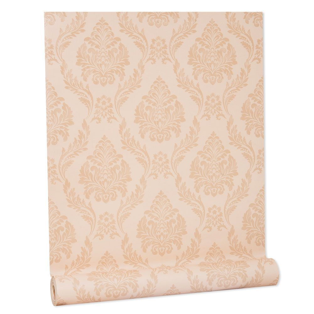 Papel De parede vinílico texturizado arabesco sala 210153