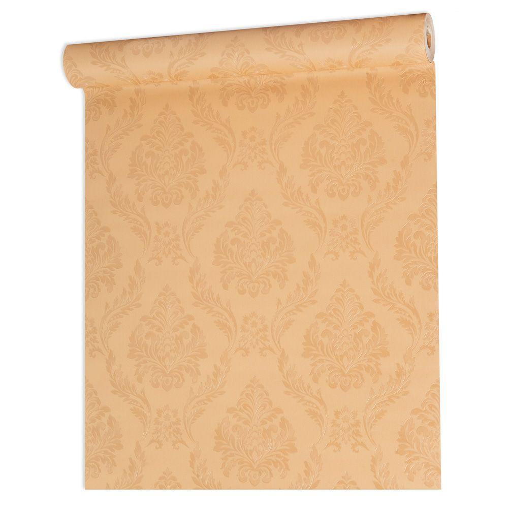 Papel De parede vinílico texturizado arabesco sala 210156