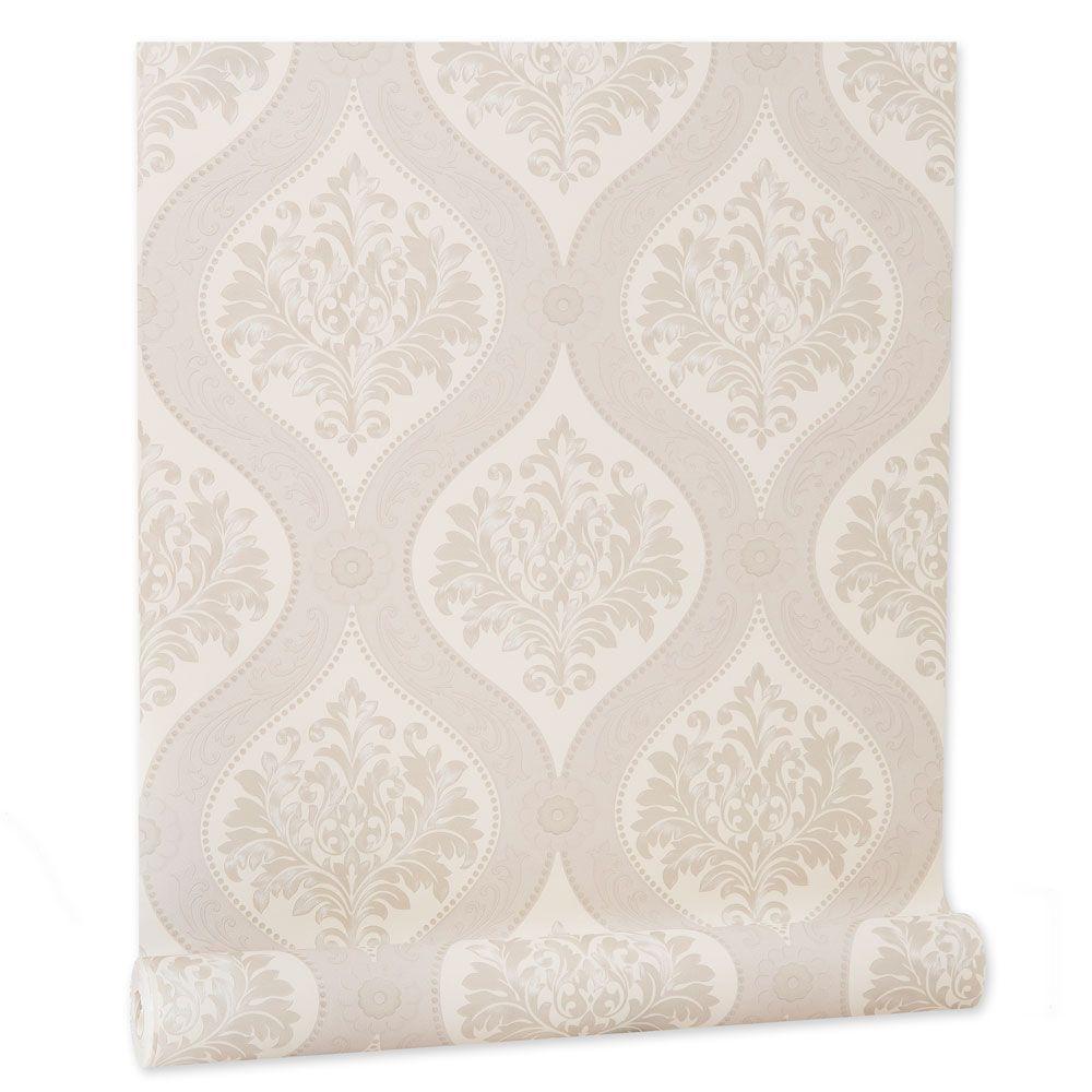 Papel De parede vinílico texturizado arabesco sala 210171