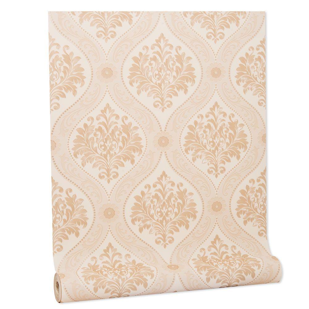 Papel De parede vinílico texturizado arabesco sala 210172