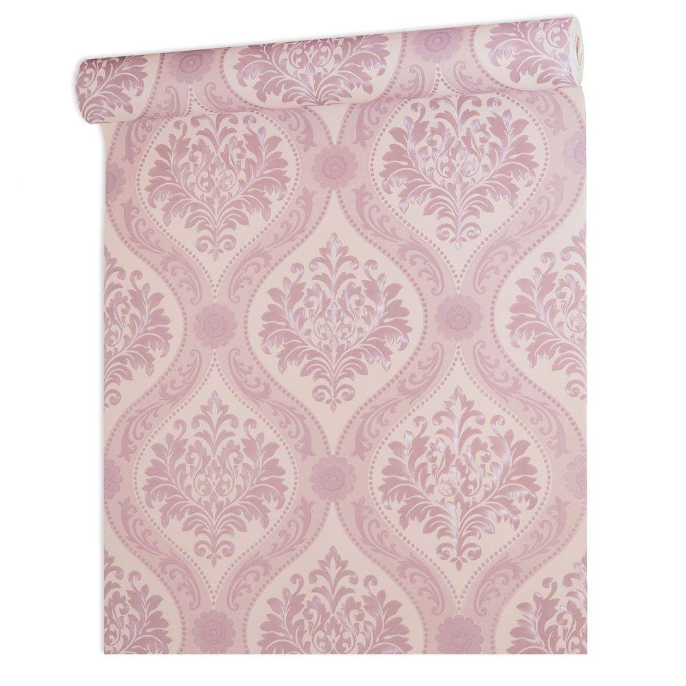 Papel De parede vinílico texturizado arabesco sala 210176