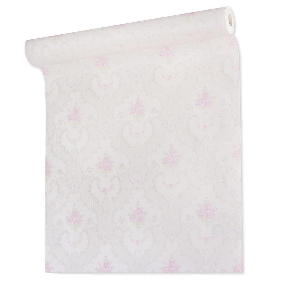 Papel De parede vinílico texturizado arabesco floral 210231