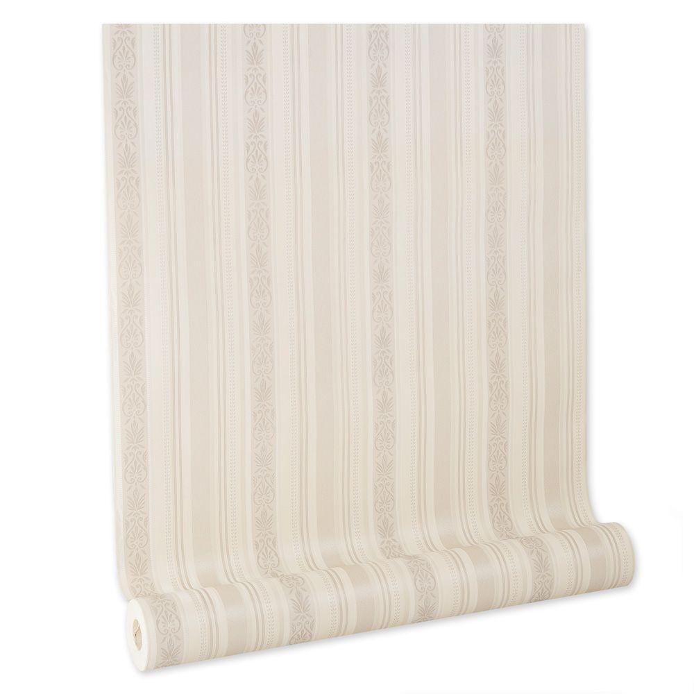 Papel De parede vinílico texturizado listrado sala 210241
