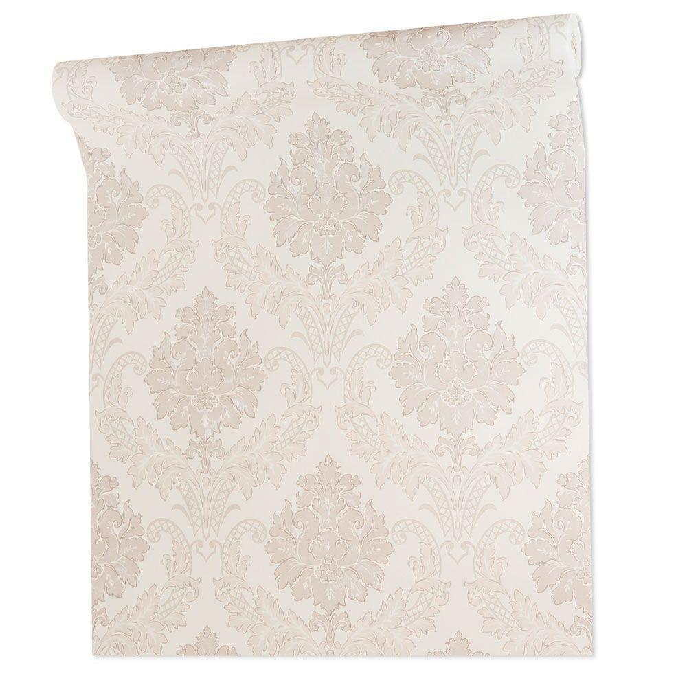 Papel De parede vinílico texturizado arabesco sala 210341