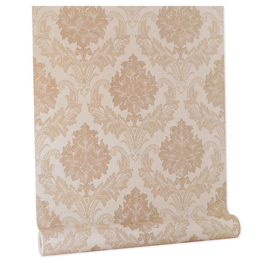 Papel De parede vinílico texturizado arabesco sala 210342