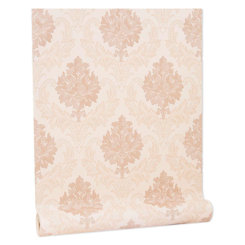 Papel De parede vinílico texturizado arabesco sala 210343