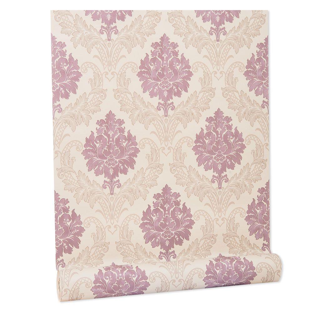 Papel De parede vinílico texturizado arabesco sala 210345